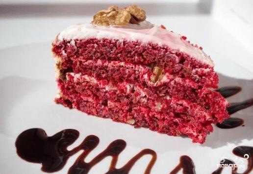 торт красный бархат рецепт без красителя