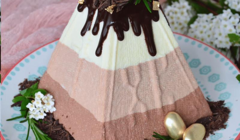Творожная пасха «Три шоколада»