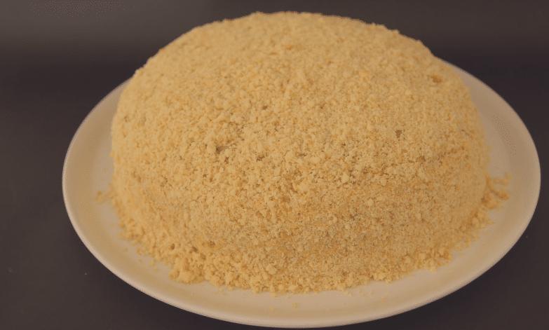 бисквитный торт с сгущенкой