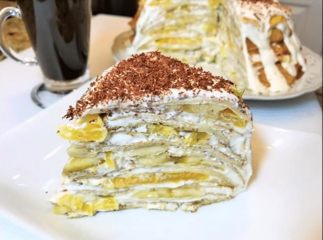 Блинно-фруктовый десерт