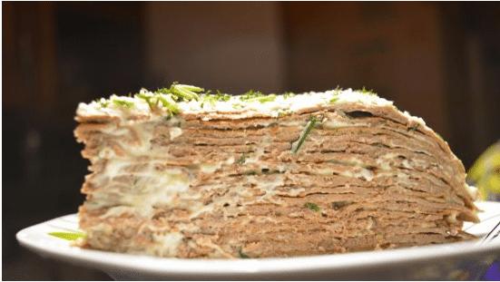 Рецепт простого и вкусного печеночного торта из говяжьей печени