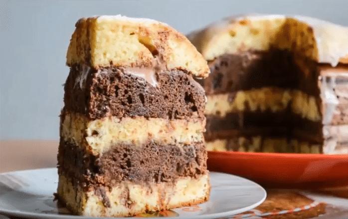 торт зебра рецепт на сметане