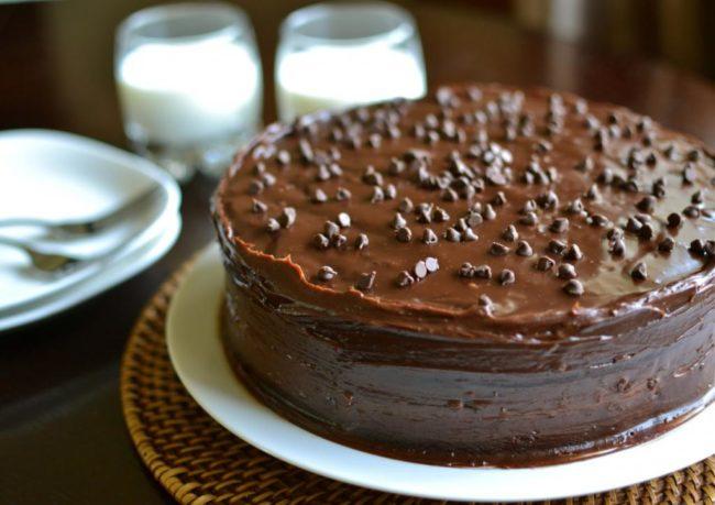 Украшаем торт какао