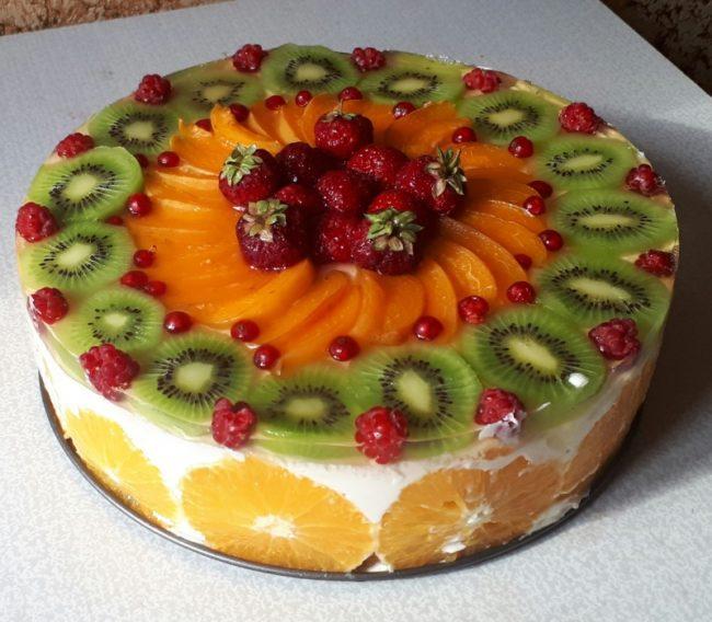 Украшаем торт желе